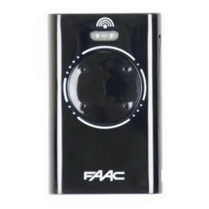 Faac XT4 868SLH - Black 7870101  | Gate and garage door remote